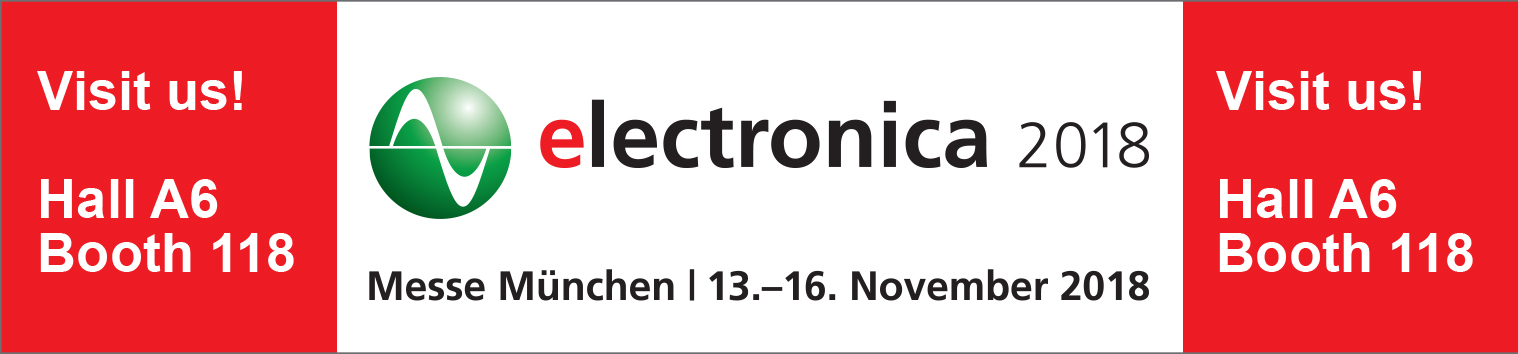 visit us at the electronica 2018