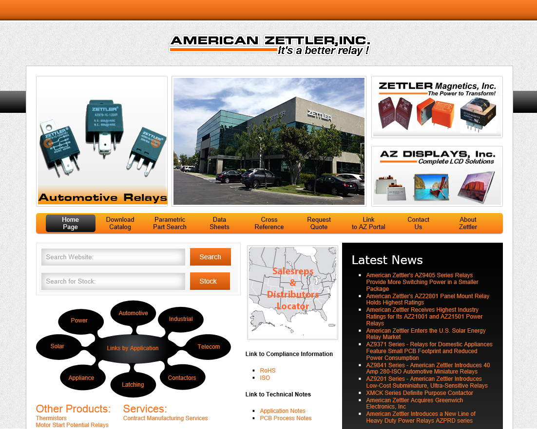 American zettler reveals new website press releases american press release sciox Choice Image