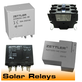 Relays and Contactors for Solar Energy use