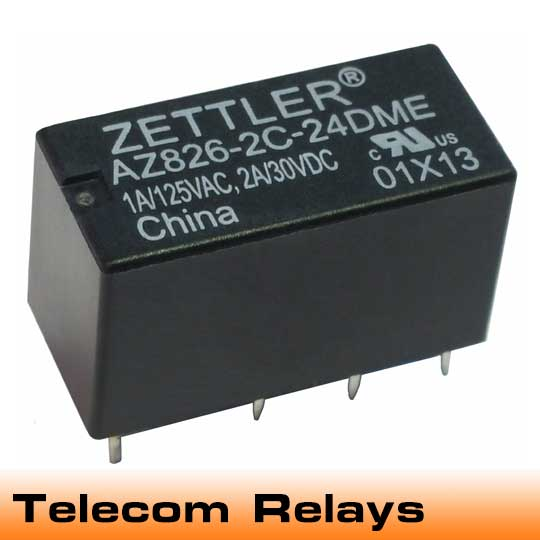 Signal level switching is the forte of these relays. Typically double-pole, double-throw configurations with gold-flashed contacts, American Zettler offers second, third, and fourth generation telecom relay designs